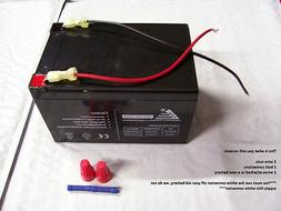12V Battery Replacement W Kit for Power Wheels Artic Cat Kaw