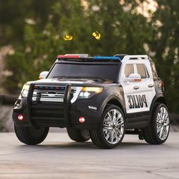 12V  Ford Style Kids Ride On Car Police Car W/ Remote Contro