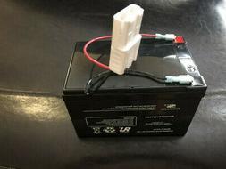 12V High Run Time Battery White Connector Rollplay Colorado