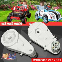 12V Power Wheels Motor With Gearbox For Kid Ride On Electric