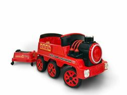 Wonderlanes 12V Ride On Train with Trailer, Battery Powered