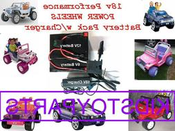 18V Volt Battery Pack Kit w/Charger for 12v Power Wheels Car