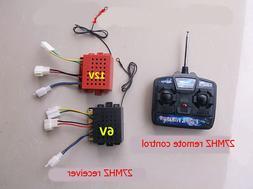 1set 4CH 27MHZ Wireless Remote Controller 6V/12V Receiver An