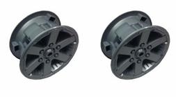Jeep Hurricane Power Wheels J4394, J4395 Rim Hub Caps - NEW