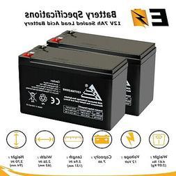 ExpertBattery 2 Pack - 12V 7AH BATTERY FOR RAZOR E200 & E300