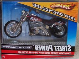 2008 Hot Wheels Street Power FERENZO Motorcycle Bike White 1