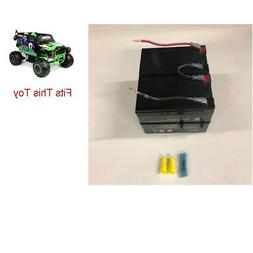 24v Battery Replacement w/  Kit for Grave Digger Power Wheel