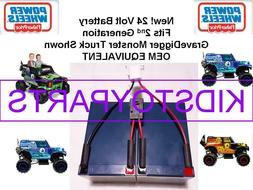 24V VOLT Battery for Grave Digger Power Wheels Toy Gravedigg
