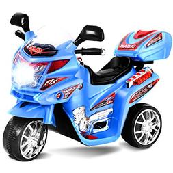 Costzon Ride On Motorcycle, 6V Battery Powered 3 Wheels Elec