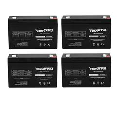 4 X 6V 12AH SEALED LEAD ACID BATTERY RECHARGEABLE F1 TERMINA