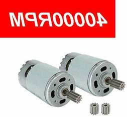 2 Pcs 550 40000RPM Electric Motor High Speed RS550 12V Motor