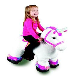 6 Volt Stable Buddies Willow Unicorn Plush Ride-On by Dynacr
