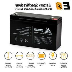 ExpertBattery 6V 12Ah Replacement Battery for Modified Power