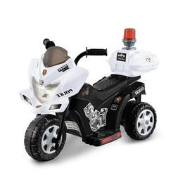 6v Black & White Lil Patrol Ride-On Motorcycle Purple & Pink