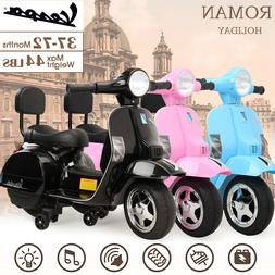 6V Electric Kids Ride On Scooter Four-Wheels Battery Powered
