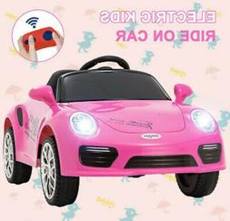 6V Kids Ride on Cars Electric Suspension Car Toy w/Remote Co