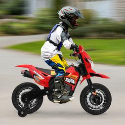 6V Kids Ride On Motorcycle Battery Powered Bicycle w/ Traini