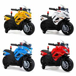 Electric Motorcycle Kids Ride On Police Toy 6V Battery Power