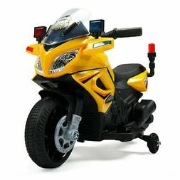 6V Kids Ride On Police Motorcycle W/ siren Battery Powered 4