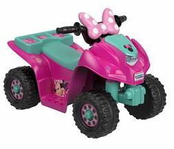 6V Minnie Mouse Quad Four Wheeler 4x4 ATV for Kids Girls Tod