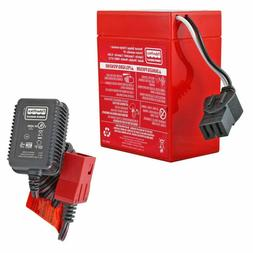 Power Wheels 6V Red Battery with Charger