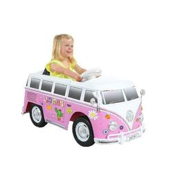 Rollplay 6V VW Type 2 Bus Ride-on Battery Powered Toy Car, P