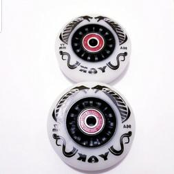 76mm Inline Wheels for the Razor Crazy Cart & Power Rider 36