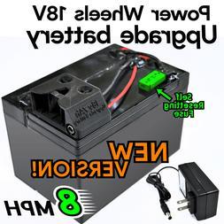 8-MPH 18V Upgrade Battery Power Wheels Mod 12v Fisher Price