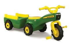 TOMY John Deere Pedal Tractor And Wagon | Ride-on Toy Takes