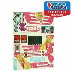 Power Wheels  Barbie Jammin Jeep Decals Sheet L7820-0311