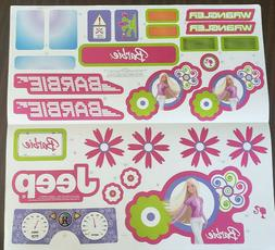 barbie jammin jeep decals sheet l7820 0311