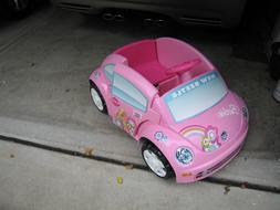 Barbie Power Wheels ride-on Volkswagen bug slow 6V  kids-car