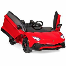 BCP 12V Kids Ride-On Lamborghini Aventador SV Car RC Toy w/