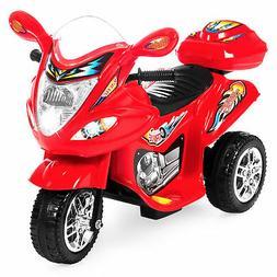 BCP 6V Kids 3-Wheel Motorcycle Ride-On Toy w/ LED Lights, Mu