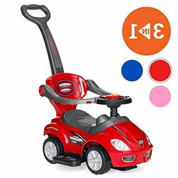 Best Choice Products 3-in-1 Kids Push and Pedal Toddler Ride