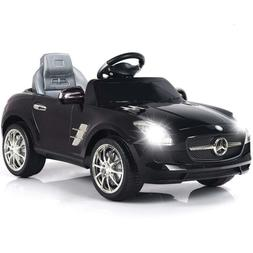 Black 44lbs 6A Kids Ride on Cars Electric Battery Power Whee
