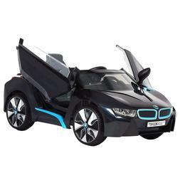 Black 6V Kids Ride on Cars Electric Battery Power Wheels 77l