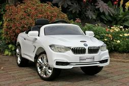 First Drive BMW 4-Series White 12v Kids Cars - Dual Motor El