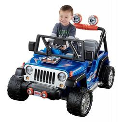 Power Wheels For Boys Jeep Wrangler Kids Motorized Vehicles