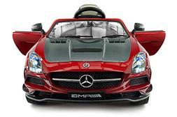 Carbon Red SLS AMG Mercedes Benz Car for Kids, 12V Powered K