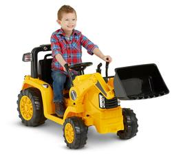 CAT Tractor Bull Dozer, Digger, Ride-On Toy by Kid Trax, yel