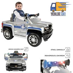 Avigo Chevy Silverado Police Truck 6 Volt Ride On