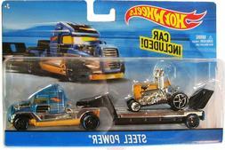 Hot Wheels City Rig - Blue/Yellow Steel Power ~ set of 4