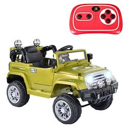 Costzon Ride On Jeep Car, 12V 2WD Powered Truck, Manual/ Par