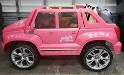 Custom 24 Volt Power Wheels Barbie Cadillac Escalade Ride On