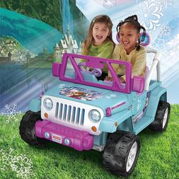 Disney Frozen 12v Electric Ride On Toy Jeep 4 Wheeler 4x4 To