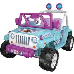 POWER WHEELS DISNEY FROZEN JEEP WRANGLER 12V BATTERY POWERED