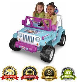 Disney Frozen Jeep Wrangler Power Wheels 12V Battery-Powered