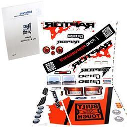Power Wheels DMM94 Ford F150 Raptor Decal Sheet #3900-5784 W