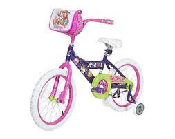 "18"" Dynacraft Shopkins Girls' Bike Steel Frame Training Whee"